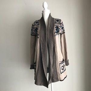 If It Were Me Cardigan Sweater Aztec Print Large